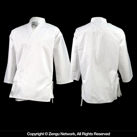 7 oz White Lightweight Karate Jacket